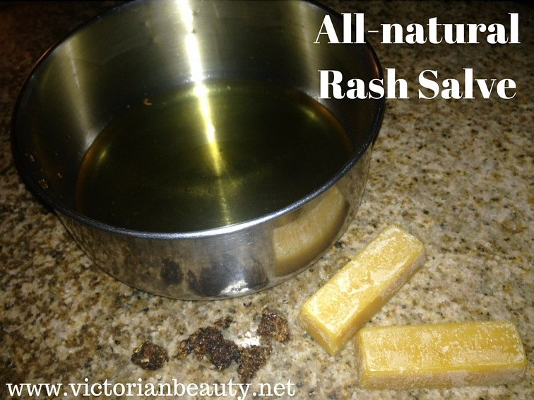 I honestly have no idea where this all-natural rash salve recipe came from, but since our family has been using it for ten years+ you know it can be trusted!