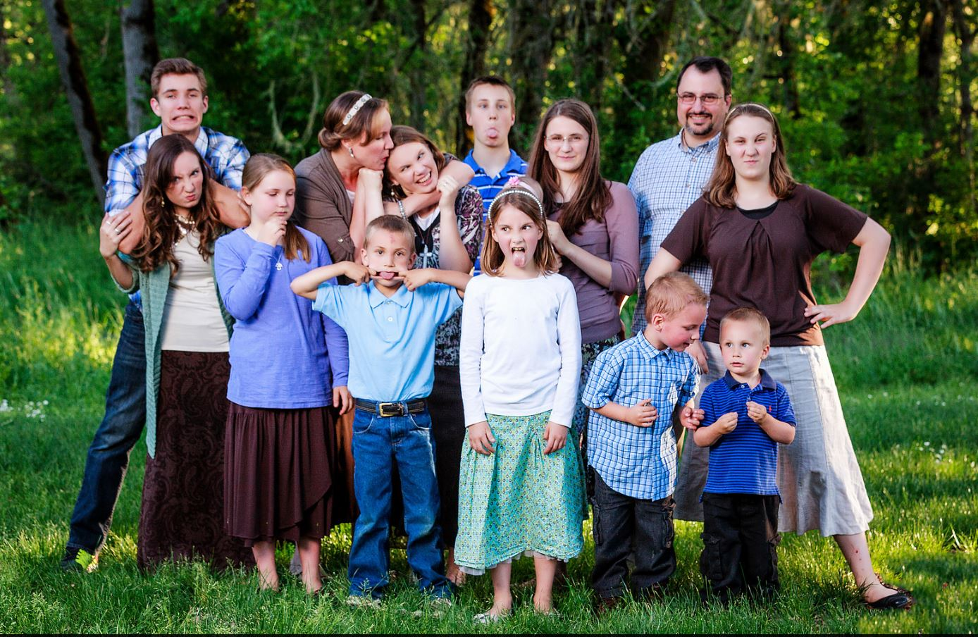 Hi! We are the Waggoner's and we are a family with twelve children (we keep Mom and Dad locked in the closet) that we homeschool and raise. The goal of this website is to show you that raising a large family is super fun and not as hard as it seems.