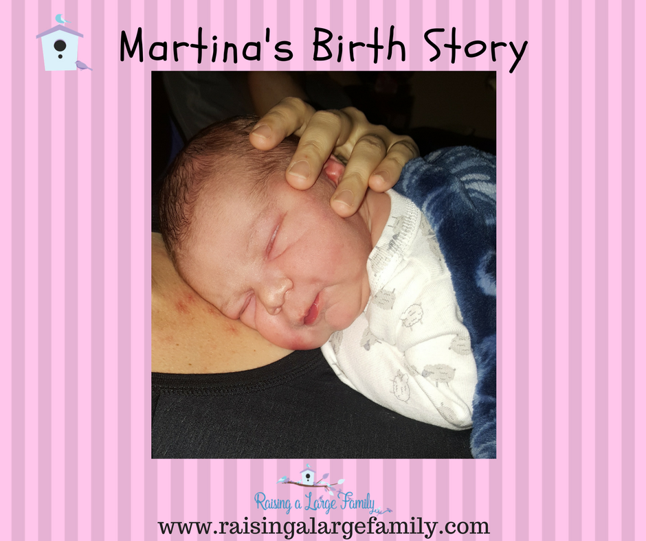 Our world needs positive birth stories. With all the complications we see (c-sections, fetal distress, interventions, etc.) it can be hard for an expecting mother to believe a normal birth is possible. I decided to share Martina's birth (baby #13) as an example of a 'normal birth'.