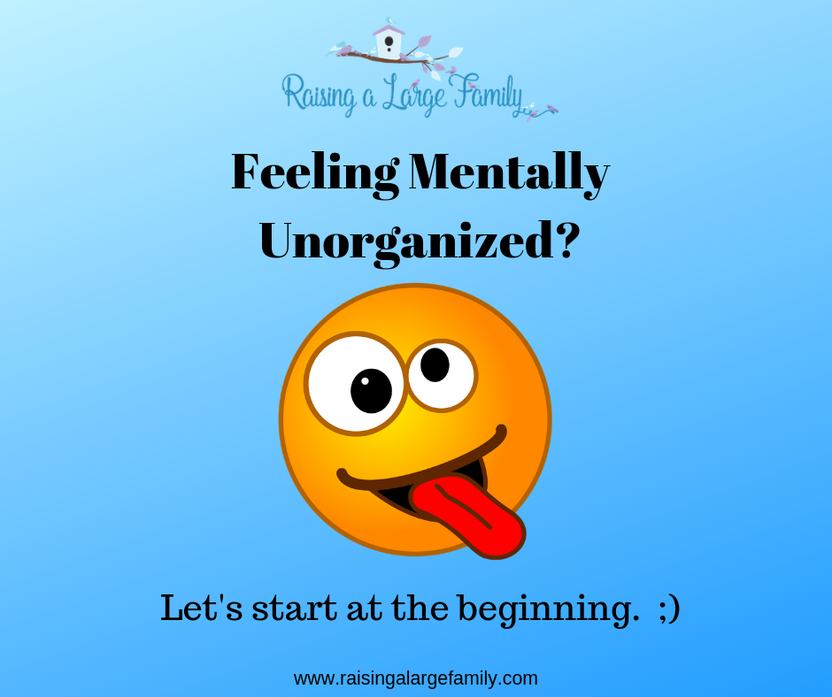 Feeling Mentally Unorganized?