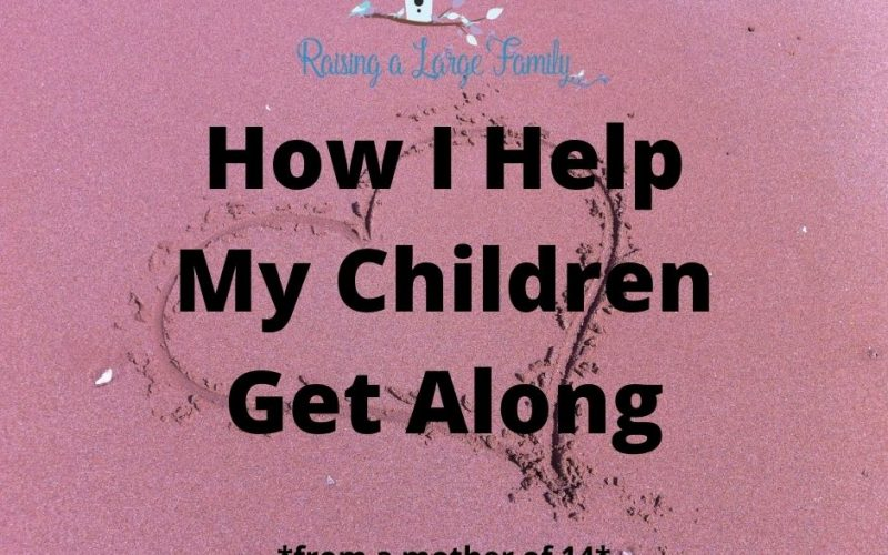 Tired of your kids fighting?  Here's how I help my children get along.