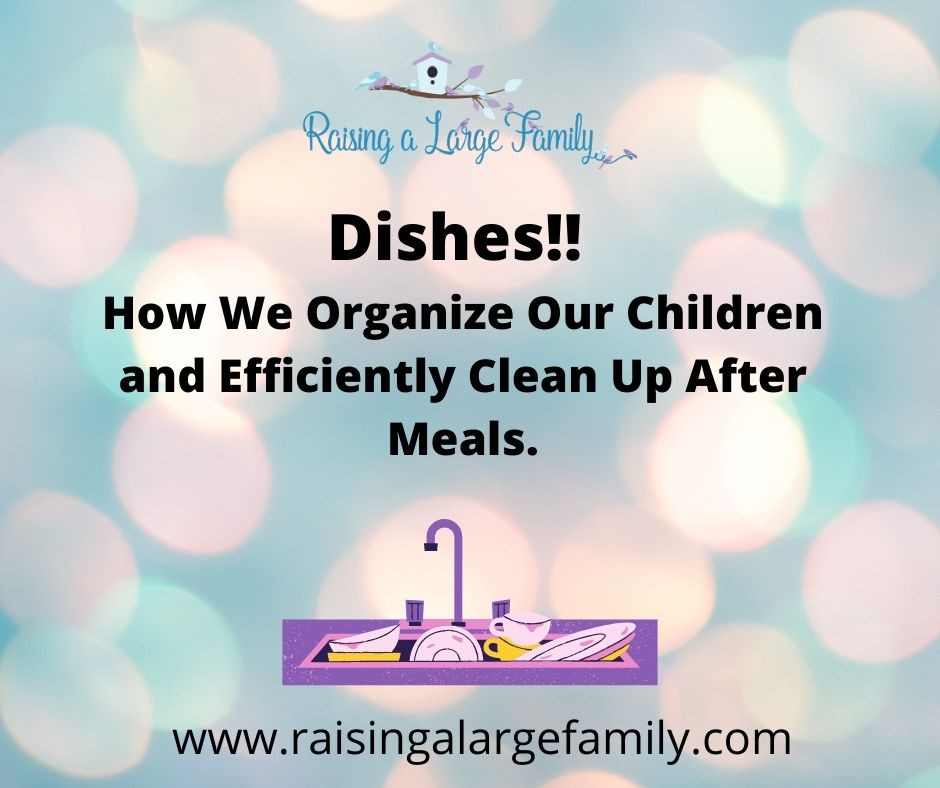 Dishes!! How We Organize Our Children and Efficiently Clean Up After Meals.